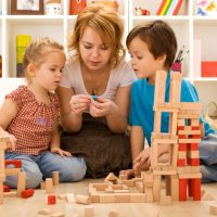 Family activities in the kids room