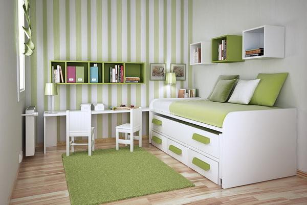 Imagen que contiene piso, interior, verde, cuarto Descripción generada automáticamente